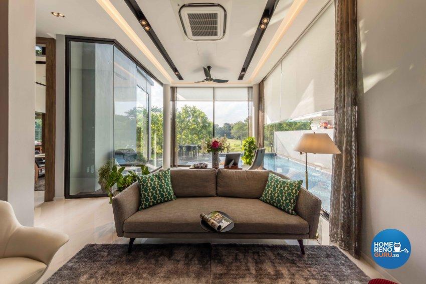 Contemporary Design - Living Room - Landed House - Design by Ciseern by designer furnishings Pte Ltd