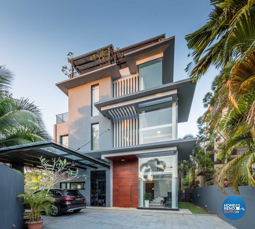 Contemporary Design - Garden - Landed House - Design by Ciseern by designer furnishings Pte Ltd