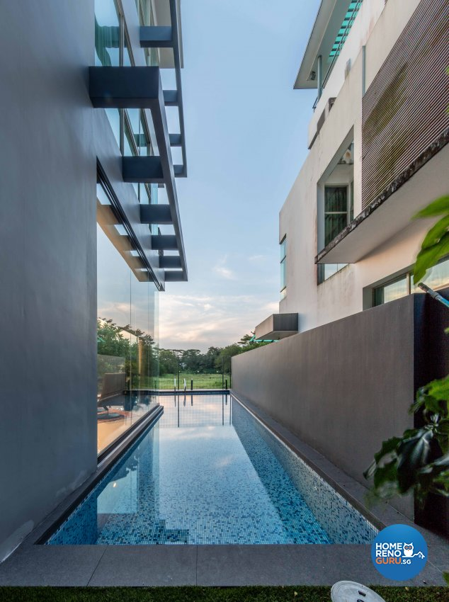 Contemporary Design - Garden - Landed House - Design by Ciseern by designer furnishings Pte Ltd