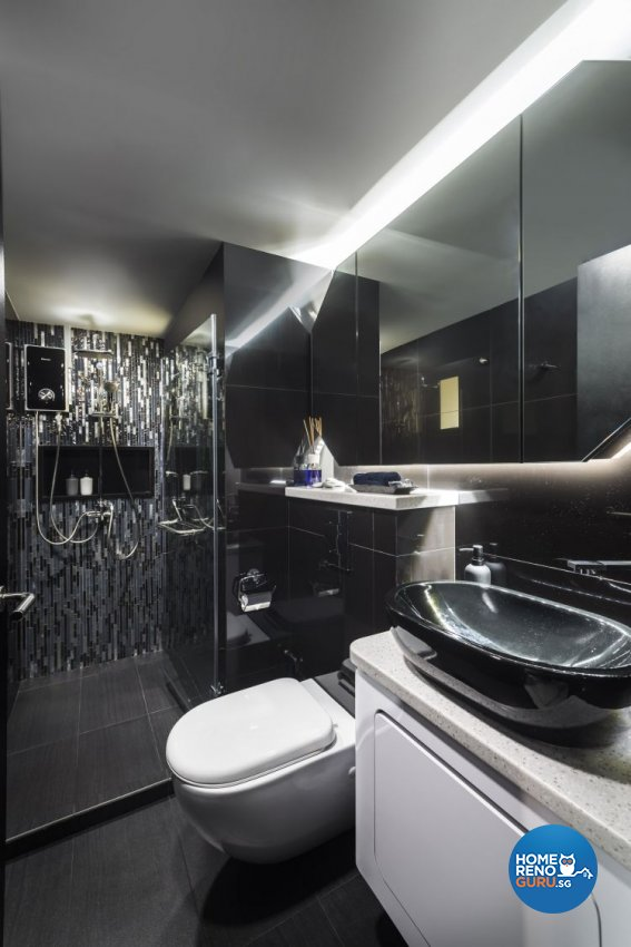 Eclectic, Modern Design - Bathroom - HDB 3 Room - Design by Ciseern by designer furnishings Pte Ltd