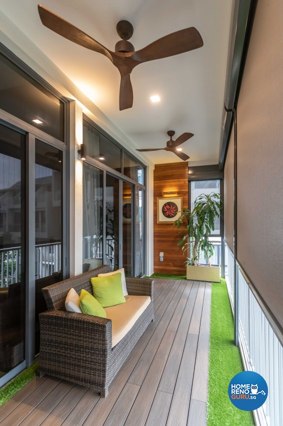 Contemporary, Modern Design - Balcony - HDB 4 Room - Design by Ciseern by designer furnishings Pte Ltd