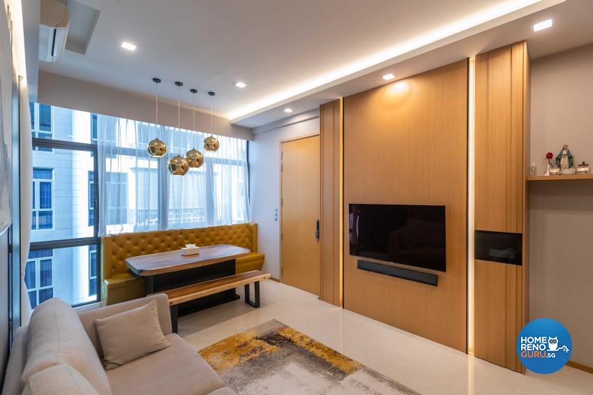 Contemporary, Modern Design - Living Room - HDB 4 Room - Design by Ciseern by designer furnishings Pte Ltd