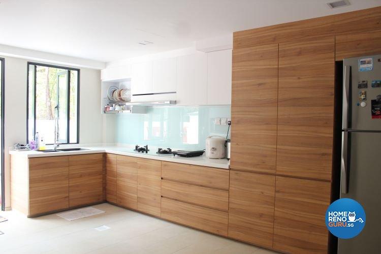 Contemporary, Scandinavian Design - Kitchen - Landed House - Design by CJ Ambience Pte Ltd