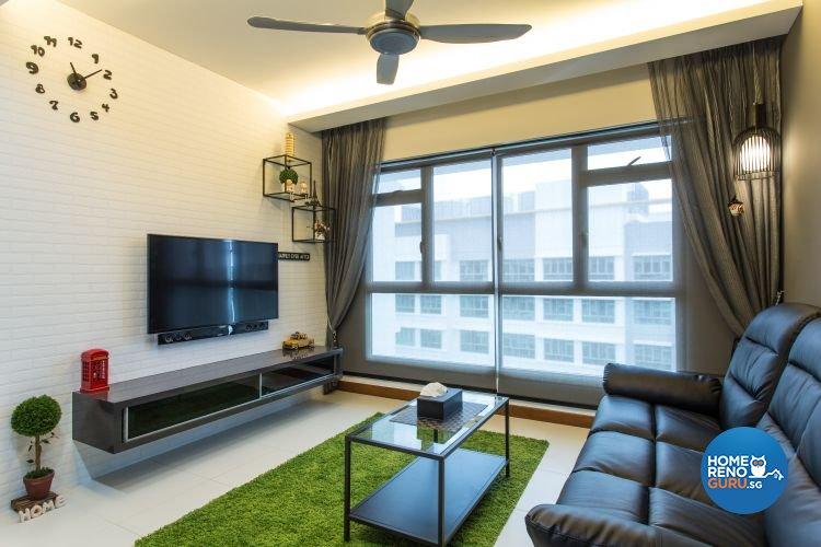 Contemporary, Industrial, Modern Design - Living Room - Condominium - Design by Classic Design Pte Ltd