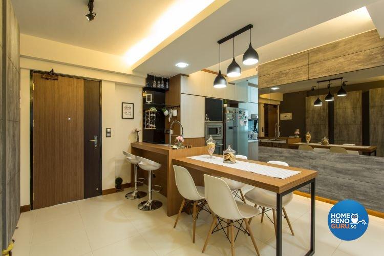 Contemporary, Industrial, Modern Design - Dining Room - Condominium - Design by Classic Design Pte Ltd