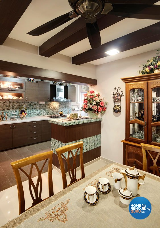 Contemporary, Country, Modern Design - Dining Room - HDB 4 Room - Design by Classic Ideas Design & Build Pte Ltd