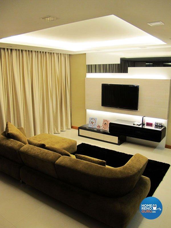 Contemporary, Minimalist, Modern Design - Living Room - HDB 5 Room - Design by Colourbox Interior Pte Ltd