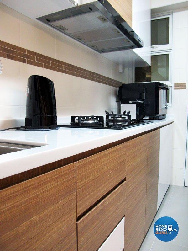 Contemporary, Minimalist, Modern Design - Kitchen - HDB 5 Room - Design by Colourbox Interior Pte Ltd