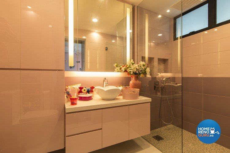 Contemporary, Modern Design - Bathroom - Condominium - Design by Concept Living Pte Ltd