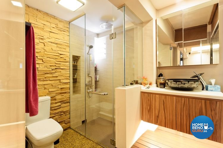 Contemporary, Country, Modern Design - Bathroom - HDB 5 Room - Design by Connectix Interior Design Pte Ltd