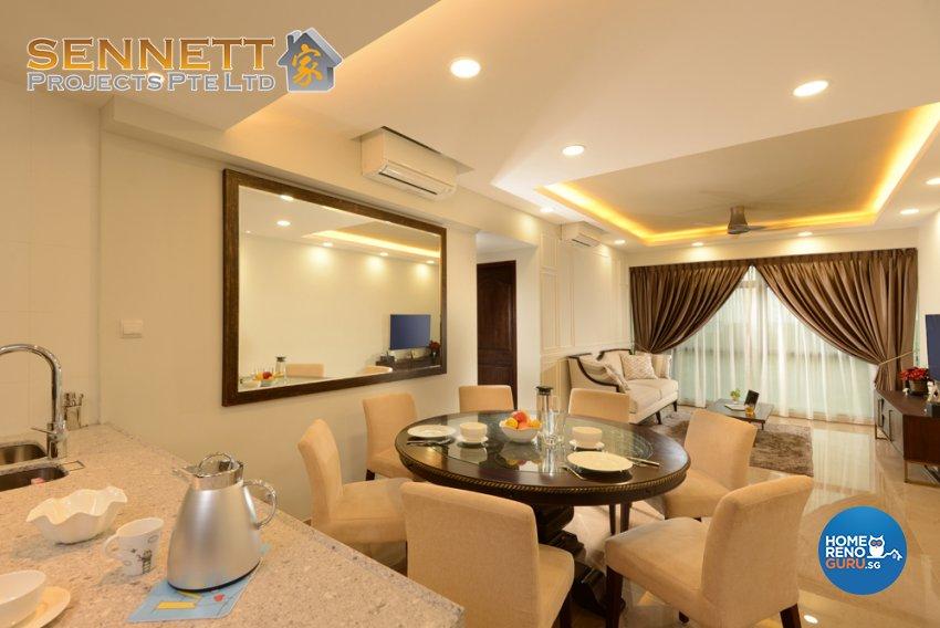 Victorian Design - Living Room - Condominium - Design by Sennett Projects Pte Ltd