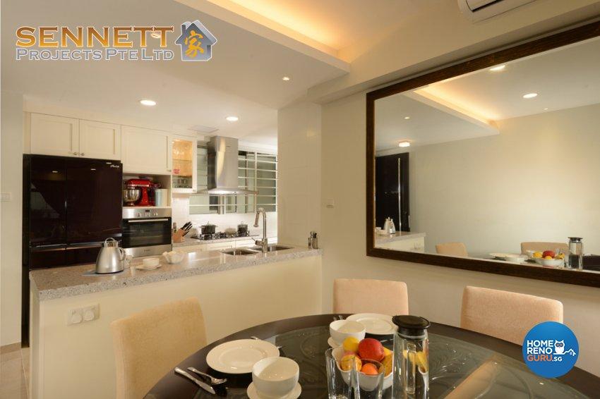 Victorian Design - Dining Room - Condominium - Design by Sennett Projects Pte Ltd
