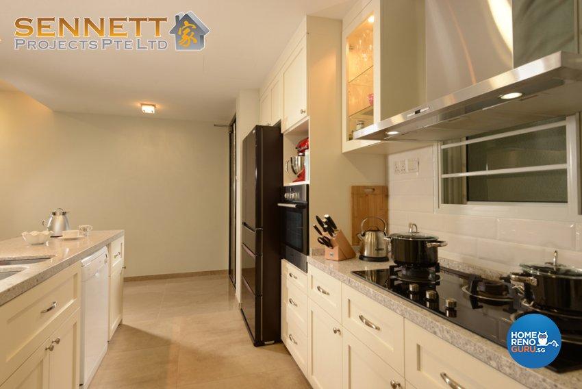 Victorian Design - Kitchen - Condominium - Design by Sennett Projects Pte Ltd