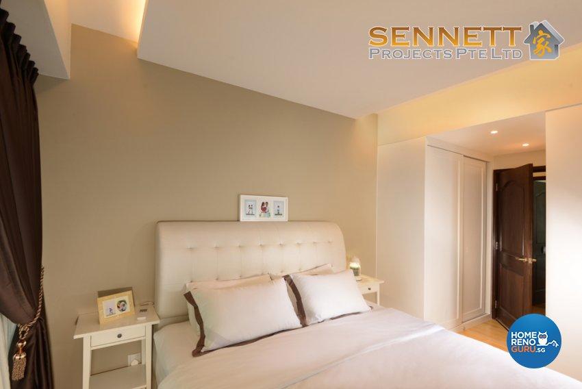 Victorian Design - Bedroom - Condominium - Design by Sennett Projects Pte Ltd
