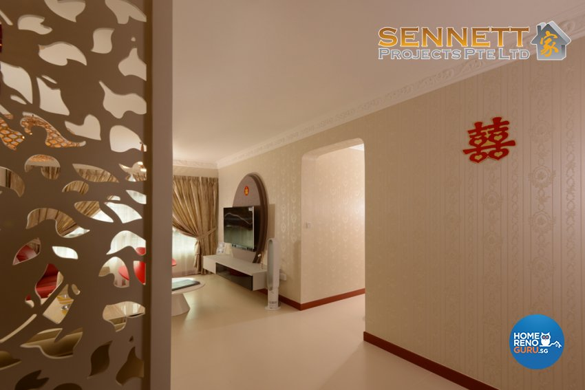 Mediterranean Design - Living Room - HDB 4 Room - Design by Sennett Projects Pte Ltd