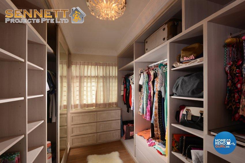Mediterranean Design - Bedroom - HDB 4 Room - Design by Sennett Projects Pte Ltd