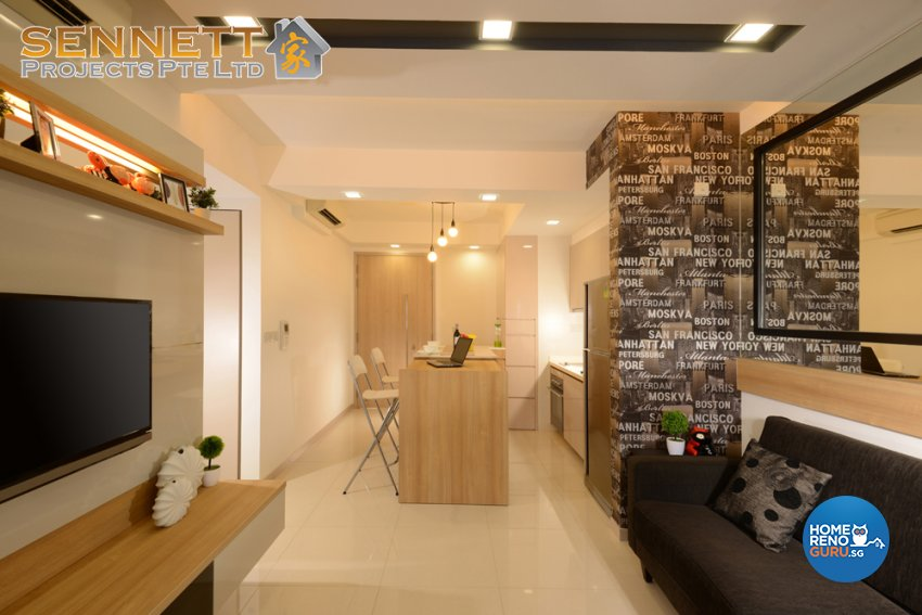 Contemporary Design - Living Room - Condominium - Design by Sennett Projects Pte Ltd