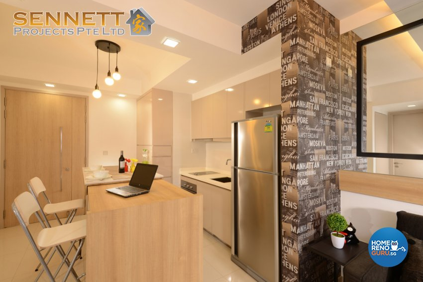 Contemporary Design - Dining Room - Condominium - Design by Sennett Projects Pte Ltd