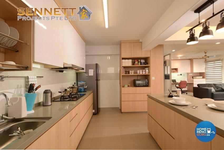 Contemporary Design - Kitchen - HDB 5 Room - Design by Sennett Projects Pte Ltd