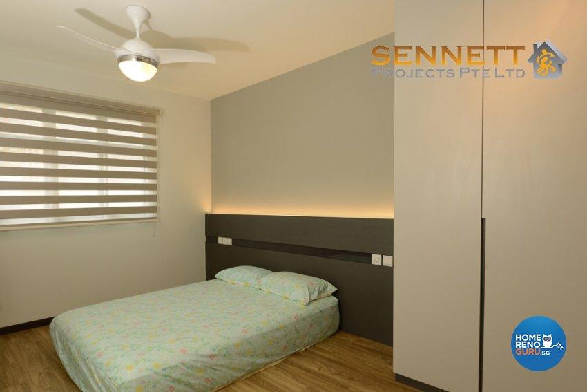 Contemporary Design - Bedroom - HDB 5 Room - Design by Sennett Projects Pte Ltd