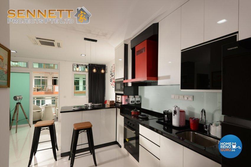 Modern Design - Dining Room - Condominium - Design by Sennett Projects Pte Ltd