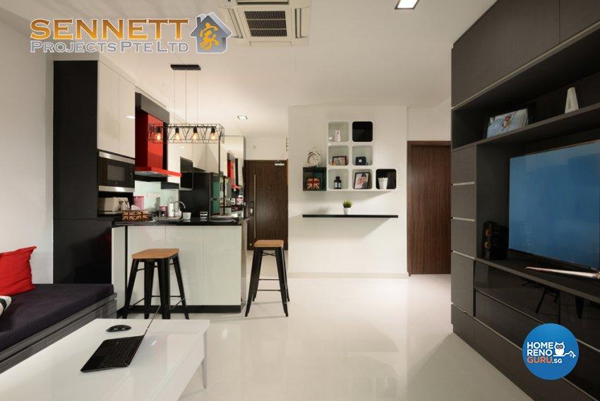 Modern Design - Living Room - Condominium - Design by Sennett Projects Pte Ltd