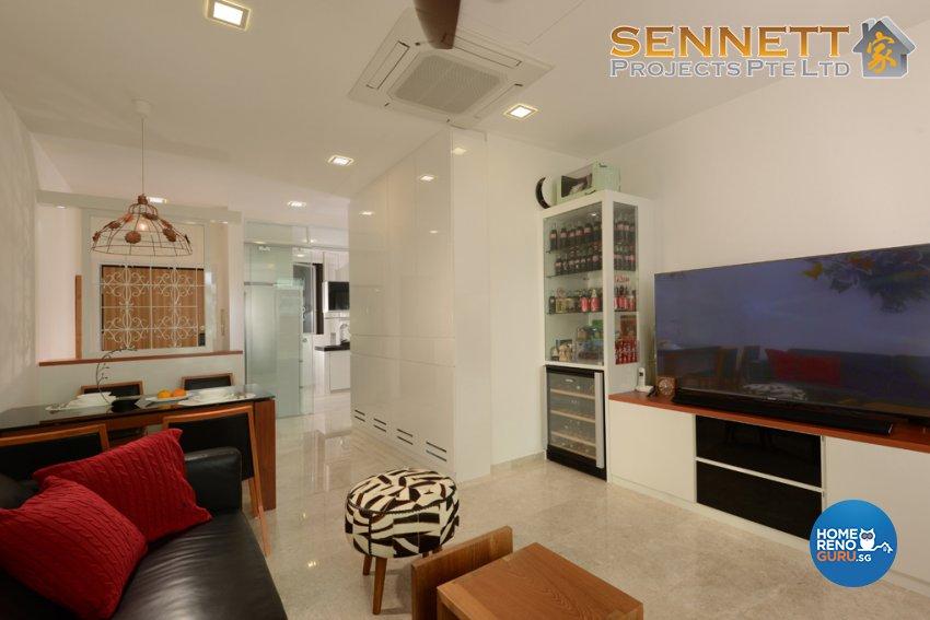 Minimalist Design - Living Room - Condominium - Design by Sennett Projects Pte Ltd