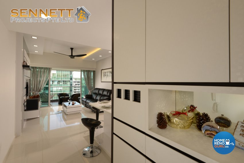 Modern Design - Living Room - Condominium - Design by Sennett Projects Pte Ltd