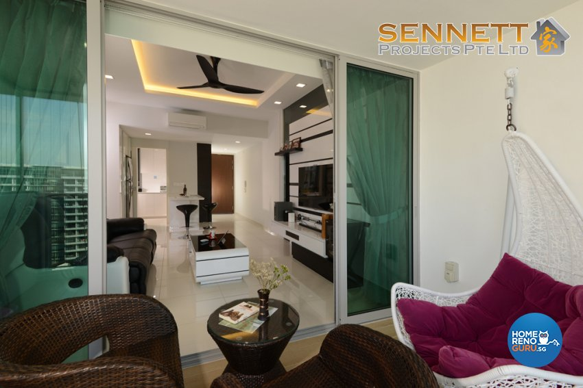 Modern Design - Balcony - Condominium - Design by Sennett Projects Pte Ltd