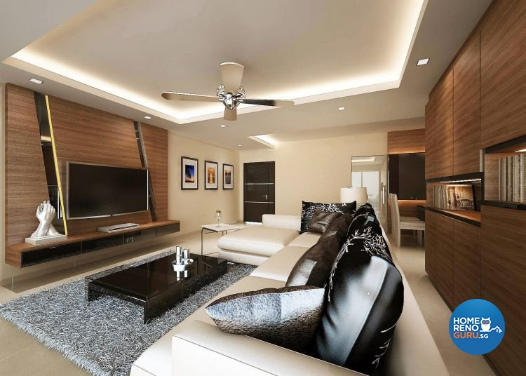 Contemporary, Modern Design - Living Room - HDB 5 Room - Design by Cosy Living Pte Ltd
