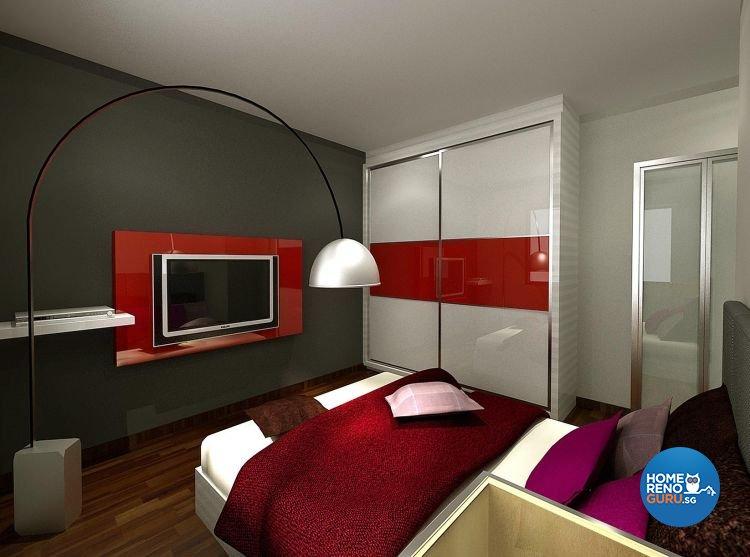 Modern, Retro Design - Bedroom - HDB 3 Room - Design by Cosy Living Pte Ltd