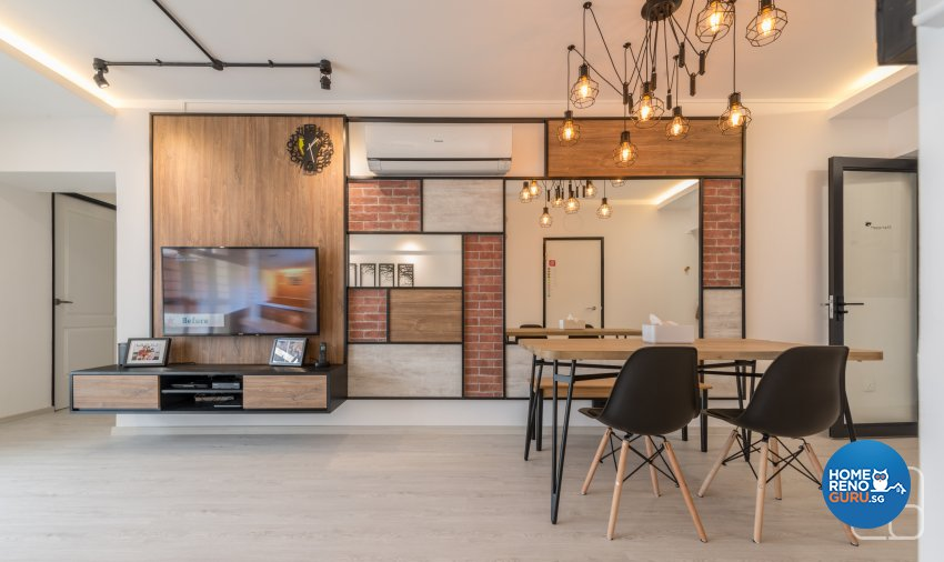 Industrial, Modern, Others Design - Dining Room - HDB 4 Room - Design by Couple Abode Pte Ltd