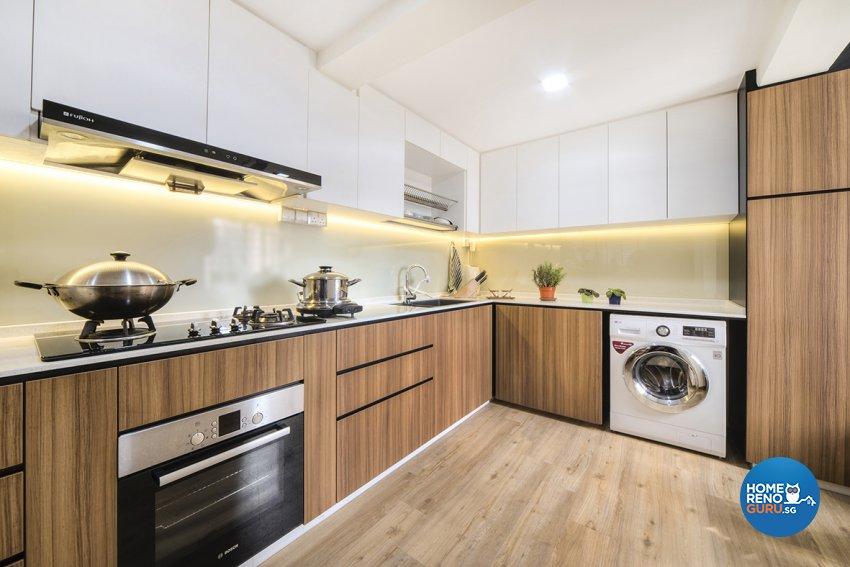 Scandinavian Design - Kitchen - HDB 5 Room - Design by Cozy Ideas Interior Design Pte Ltd