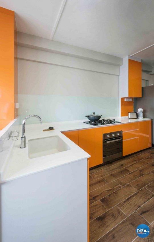 Contemporary, Rustic Design - Kitchen - HDB 3 Room - Design by Cozy Ideas Interior Design Pte Ltd
