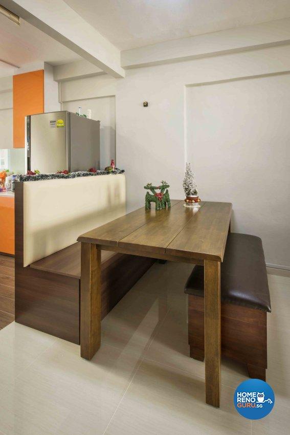 Contemporary, Rustic Design - Dining Room - HDB 3 Room - Design by Cozy Ideas Interior Design Pte Ltd