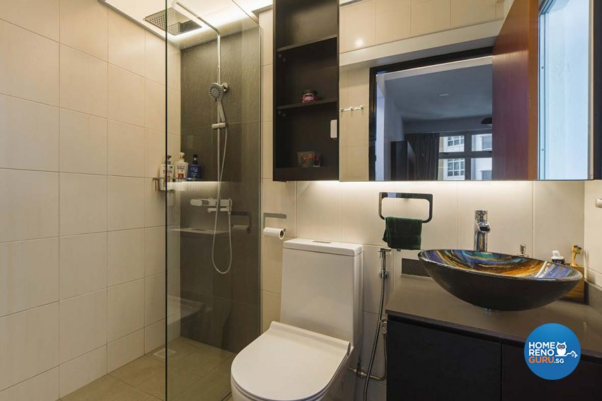 Eclectic Design - Bathroom - HDB 4 Room - Design by Cozy Ideas Interior Design Pte Ltd