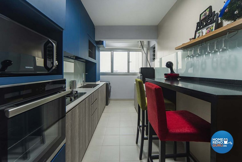 Eclectic Design - Kitchen - HDB 4 Room - Design by Cozy Ideas Interior Design Pte Ltd