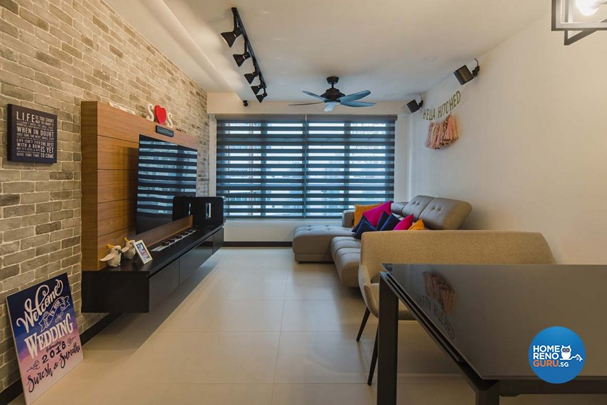 Eclectic Design - Living Room - HDB 4 Room - Design by Cozy Ideas Interior Design Pte Ltd