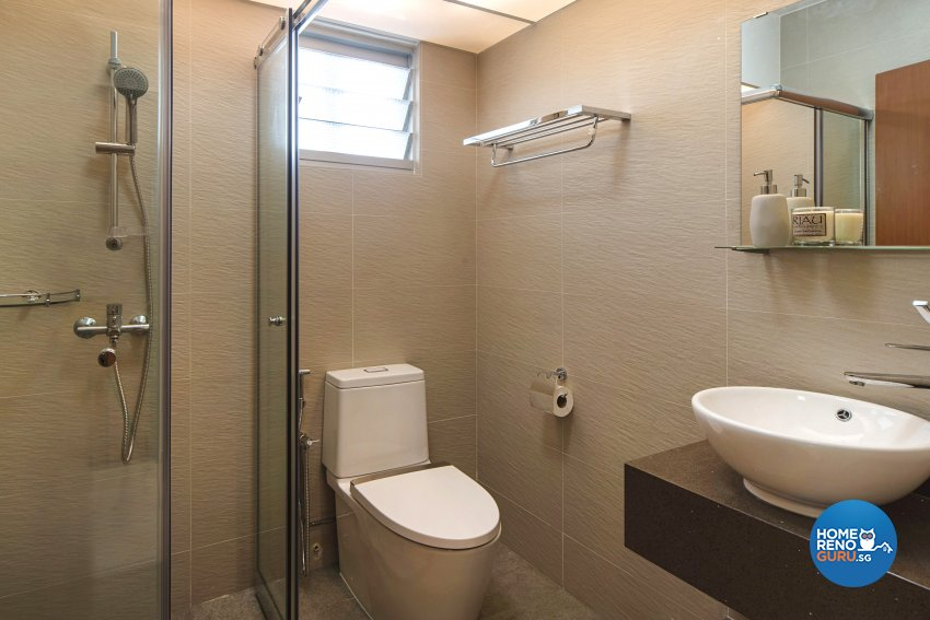 Contemporary Design - Bathroom - HDB 4 Room - Design by Cozy Ideas Interior Design Pte Ltd