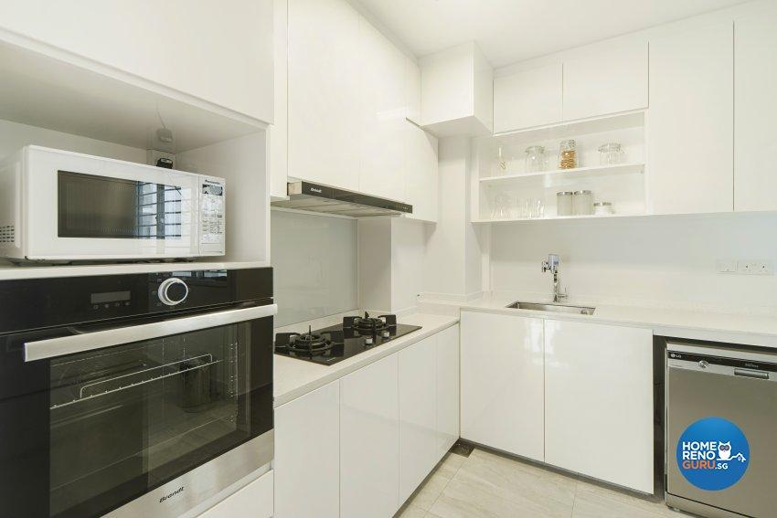 Contemporary Design - Kitchen - HDB 4 Room - Design by Cozy Ideas Interior Design Pte Ltd
