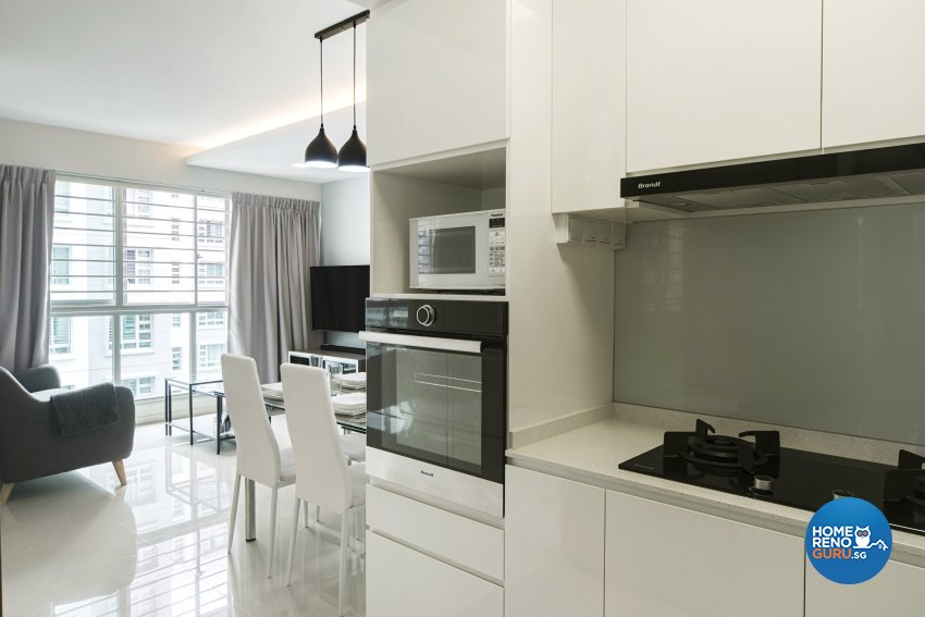 Contemporary Design - Kitchen - HDB 4 Room - Design by Cozy Ideas Interior Design Pte Ltd