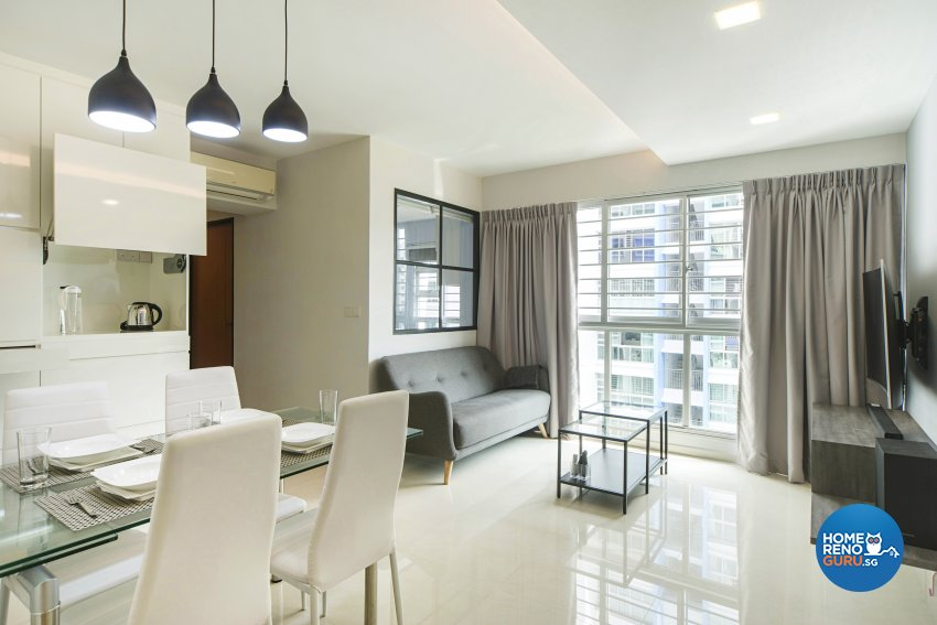 Contemporary Design - Living Room - HDB 4 Room - Design by Cozy Ideas Interior Design Pte Ltd