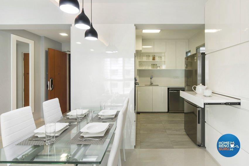 Contemporary Design - Living Room - HDB 4 Room - Design by Cozy Ideas Interior Design Pte Ltd