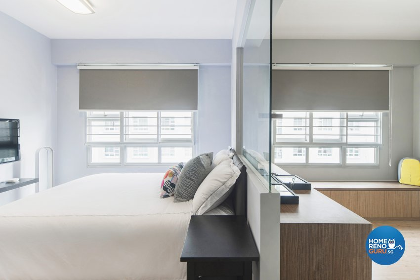 Contemporary Design - Bedroom - HDB 4 Room - Design by Cozy Ideas Interior Design Pte Ltd