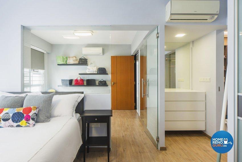 Contemporary Design - Bedroom - HDB 4 Room - Design by Cozy Ideas Interior Design Pte Ltd