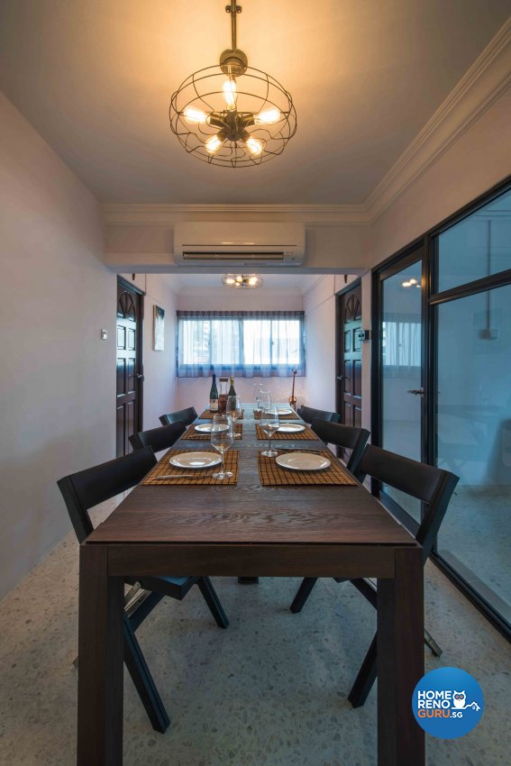 Industrial Design - Dining Room - HDB 5 Room - Design by Cozy Ideas Interior Design Pte Ltd