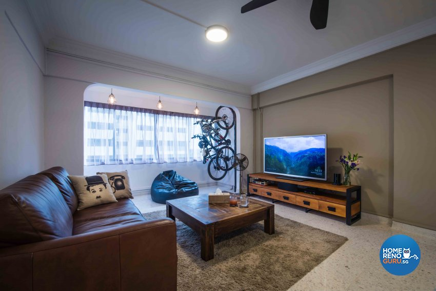 Industrial Design - Living Room - HDB 5 Room - Design by Cozy Ideas Interior Design Pte Ltd
