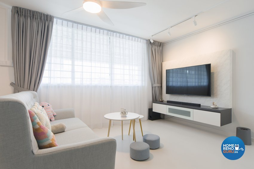 Minimalist, Scandinavian Design - Living Room - HDB 5 Room - Design by Cozy Ideas Interior Design Pte Ltd