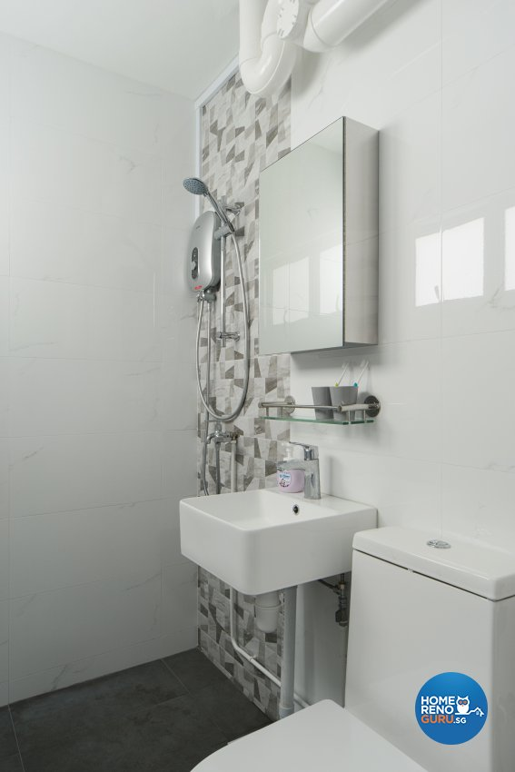 Minimalist, Scandinavian Design - Bathroom - HDB 5 Room - Design by Cozy Ideas Interior Design Pte Ltd