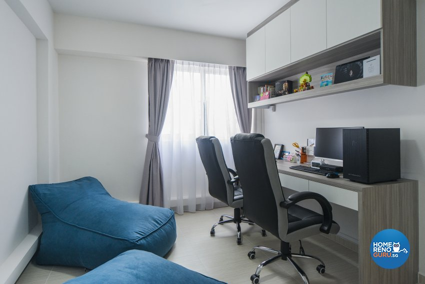 Minimalist, Scandinavian Design - Study Room - HDB 5 Room - Design by Cozy Ideas Interior Design Pte Ltd